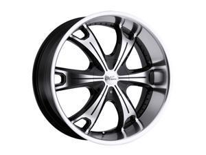 """Milanni 452 Stellar 17x8 5x114.3/5x4.75"""" +25mm Black/Machined Wheel Rim"""