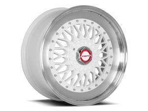 Shift Clutch 17x8.5 5x100/5x114.3 +30mm White Wheel Rim
