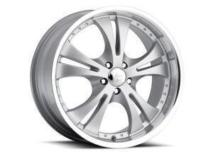 Vision 539 Shockwave 15x6.5 5x115 +38mm Silver Wheel Rim