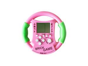 2pcs New Kids Childhood Educational Toys Steering Wheel Console Tetris Handheld Game Consoles Kids Console Tetris Toy