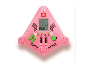 2pcs New Airplane Style Game Handheld Tetris Games Console For Children Classics Brick Game Console Intelligence Electronic Toys