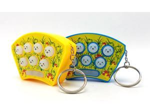2PCS Electronic Educational Toys Whack Hamster Fight Whack-A-Mole Game Console Key Chain Kids Baby Handheld Portable Game Console