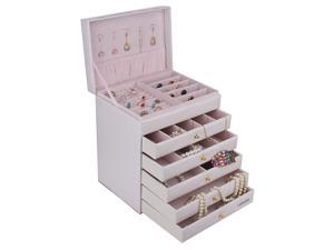 Large Jewelry Box Earring Ring Bracelet Storage Cabinet Armoire Birthday Gift  ZG209
