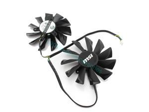 Graphics Card Dual Fan For MSI R9 270X R9-280X R9-270X R7-260X GTX770 94MM PLD10015B12H DC 12V 0.55A Automatic Dust Replacement Parts Wholesale + Thermal grease
