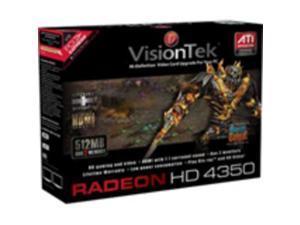 Visiontek 900308 Radeon 4350 Graphic Card - 512 Mb Ddr2 Sdram - Pci Express X1 - 800 Mhz Memory Clo
