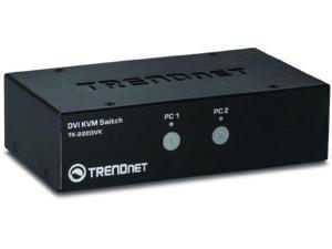 Trendnet 2-port Dvi Kvm Switch Kit - 2 Computer(s) - 1