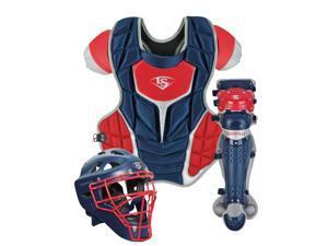 Louisville Slugger PGS714-STA Navy / Red Adult Series 7 3-Piece Catchers Set