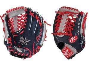 Rawlings PRO204NGMT 11.5 Heart of The Hide Navy / Red / Grey Baseball Glove