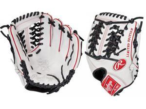 "Rawlings PRO204WBS 11.5"" Heart of The Hide White/Black/Red Custom Baseball Glove"