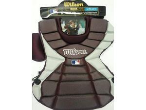 "Wilson WTA3300 Maroon Hinge FX 2.0 Pro Stock Adult 18"" Chest Protector New!"