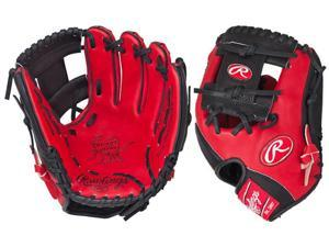 "Rawlings PRO202SB 11.5"" Heart Of The Hide Red/Black Custom Color Baseball Glove"