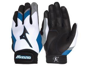 1pr Mizuno 330270 White/Purple Adult X-Small Finch Premier Womens Batting Gloves