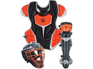 Louisville Slugger PGFPAS6 Black / Orange Series 7 Fastpitch Adult Catchers Set