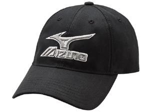Mizuno 370210 Black / Grey Low Profile Adjustable Adult Baseball Softball Hat