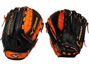 "Mizuno GMVP1200PSEF4 12"" Black / Orange MVP Prime SE Fastpitch Softball Glove"