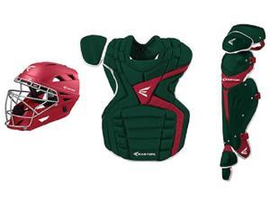 Easton Mako LLWS Catcher's Set Kelly Green / Red Intermediate Fits Ages 13-15