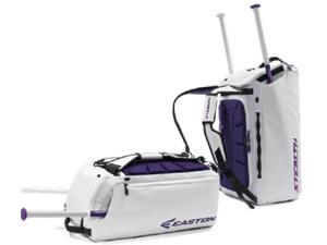 Easton Stealth Hybrid White/Purple Duffle / Backpack / Bat Pack / Equipment Bag