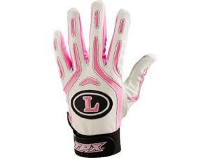 1pr Louisville BG26 Pro Design Adult Small Breast Cancer Wh/Pink Batting Gloves
