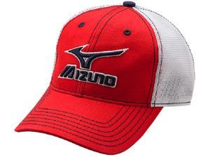 Mizuno 370211 Red / White Adjustable Adult Mesh Trucker Baseball Softball Hat