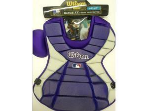 "Wilson WTA3300 Purple Hinge FX 2.0 Pudge Pro Stock Adult 18"" Chest Protector"