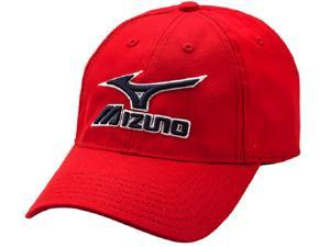 Mizuno 370210 Red / Navy Low Profile Adjustable Adult Baseball Softball Hat