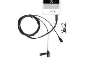 Movo PM20 Dual-Headed Lavalier Lapel Clip-on Omnidirectional Condenser Microphone (for Dual Mono or Stereo Recording) for Apple iPhone, iPad, iPod Touch, Android and Windows Smartphones