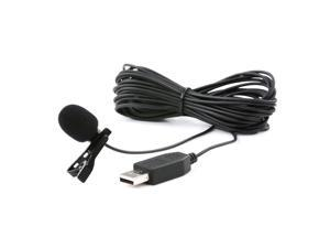 Movo M1 USB Lavalier Lapel Clip-on Omnidirectional Condenser Computer Microphone for PC and Mac (20' Cord)