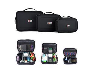 BUBM 3pcs/set Portable Electronic Accessories Travel Organizer Case