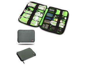 BUBM Gray Cable Organizer Electronics Accessories Case USB Drive Shuttle