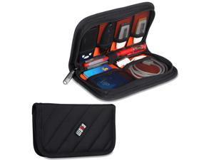 BUBM Black Electronics Accessories Case / USB Drive Shuttle / Cable Organizer Bag