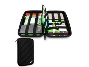 BUBM Portable EVA Hard Drive Case Electronics Accessories Travel Organizer-Black