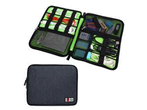 BUBM Universal Cable Organizer Electronics Accessories Case USB Drive Shuttle