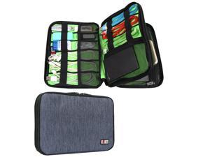 BUBM Universal Double Layer Travel Gear Organizer / Electronics Accessories Bag / Battery Charger Case