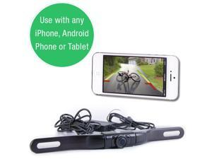 WIFI License Plate Backup Camera - For iPhone/Android Phones & Tablets
