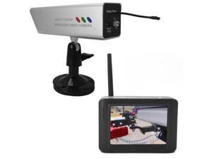 Magnetic Trailer Hitch Backup Cam w/ Rechargeable Battery & Wireless LCD
