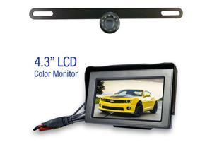 """Wireless License Plate Backup Camera with 4.3"""" LCD"""