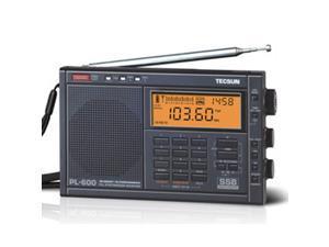 Tescun PL-600 Portable Full Band FM MW SW SSB PLL Stereo Portable Digital Radio Receiver Tecsun PL600 Black