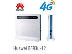 Huawei B593u-12 4G LTE Wireless CPE Router Gateway 100Mbps WiFi Hotspot  (White)