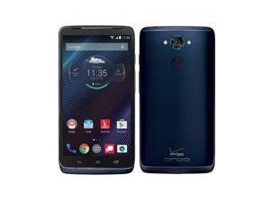 "Motorola Droid Turbo XT1254 32GB Verizon & GSM ""Factory Unlocked"" LTE Smartphone Blue"