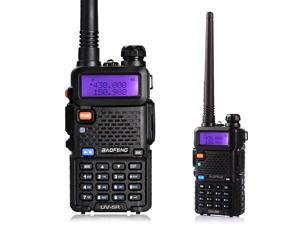 BaoFeng UV-5R 136-174/400-520 MHz Dual-Band DCS DTMF CTCSS FM Ham Walkie Talkies Black