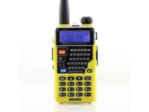 Baofeng Yellow UV-5RE Plus 128CH Dual band UHF+VHF FM VOX DTMF  Walkie Talkies