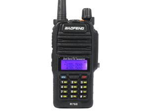 Baofeng BF-R760 Black 5-Watt Dual Band Two-Way Radio Waterproof Walkie Talkie