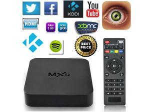 MXQ Pro Android TV Box S905 Kodi 15.2 Full Loaded Android 5.1 Lollipop OS Black TV Box  (Fast Ship From US)