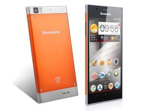 "Lenovo K900 Orange 5.5"" Unlocked 4GB/1GB Intel Atom Z2580 2.0GHz Retina AH-IPS Screen GPS Dual Camera Android Smartphone (Fast Ship From US)"