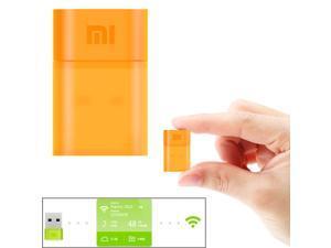 Xiaomi Mini Portable Wifi Router USB 2.0 Wireless Network Adapter Xiaomi Smartphone Tablet PC(Orange)