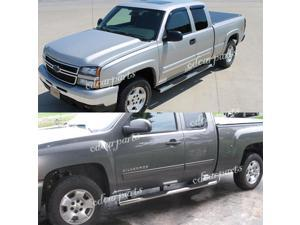 "FIT:99-13 SILVERADO/SIERRA 1500/2500/3500 EXT CAB 4"" OVAL S/S SIDE STEP NERF BAR"