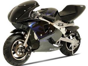 MotoTec 36v Electric Pocket Bike Black