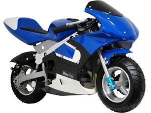 MotoTec Gas Pocket Bike Blue