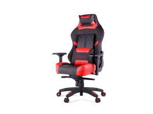 N Seat PRO 600 Series Racing Gaming Style Ergonomic Design Swivel Chair - Red