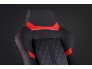 N Seat PRO 600 Series Racing Gaming Style Ergonomic Design Swivel Chair - Red